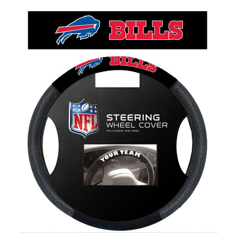 NFL Buffalo Bills Poly-Suede Steering Wheel Cover