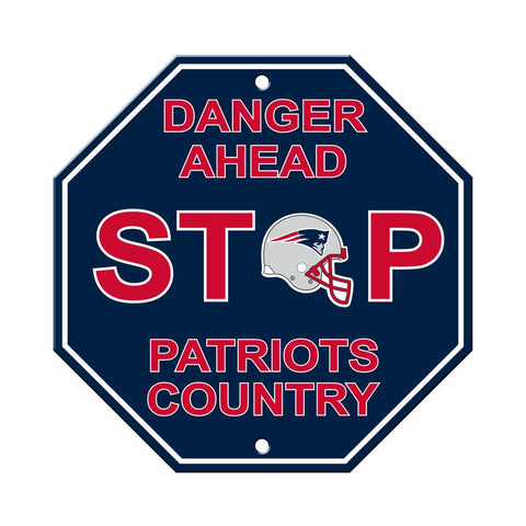 NFL New England Patriots Stop Sign