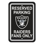 NFL Oakland Raiders Reserved Parking Sign