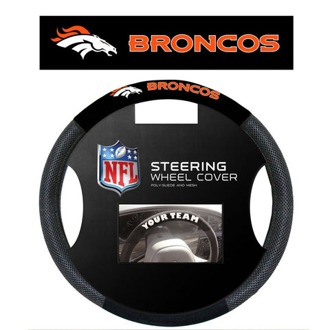 NFL Denver Broncos Poly-Suede Steering Wheel Cover