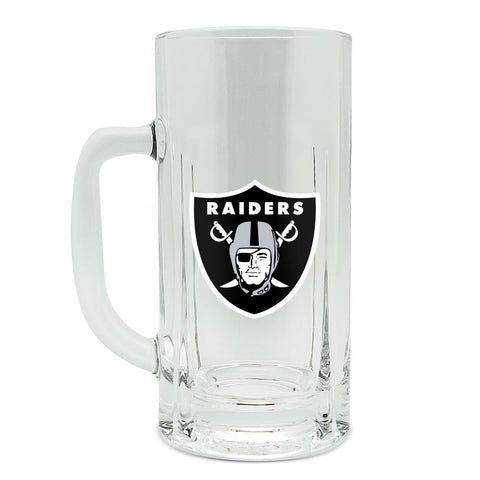 OAKLAND RAIDERS GLASS HEAVY DUTY KRAFT MUG - 20 oz