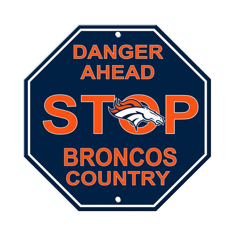 NFL Denver Broncos Stop Sign