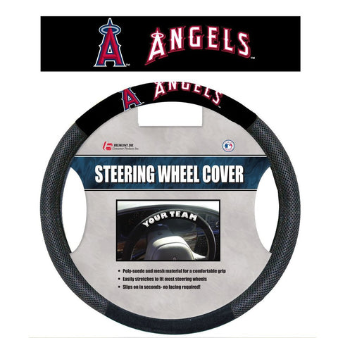 MLB Los Angeles Angels Poly-Suede Steering Wheel Cover