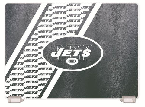 NEW YORK JETS TEMPERED GLASS CUTTING BOARD