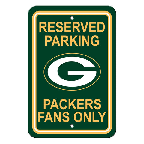 NFL Green Bay Packers Reserved Parking Sign