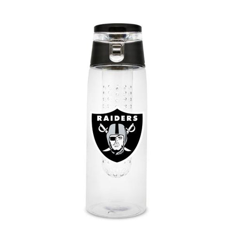 OAKLAND RAIDERS PLASTIC INFUSER SPORT BOTTLE 20 OZ.