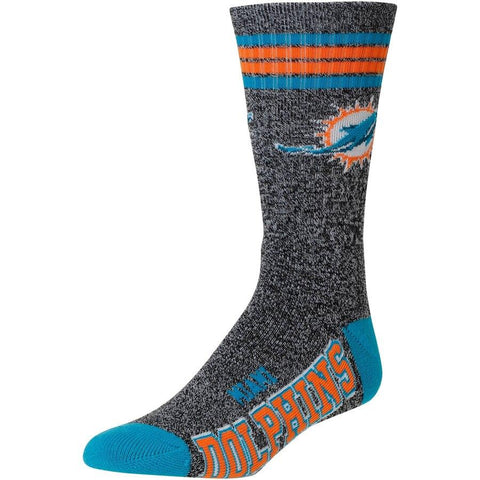 Men's Miami Dolphins For Bare Feet Gray Got Marble Crew Socks