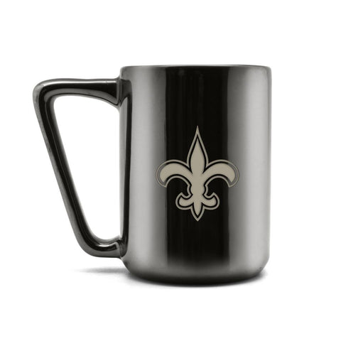 NEW ORLEANS SAINTS CERAMIC MUG W LASER ENGRAVED LOGO 16 OZ.
