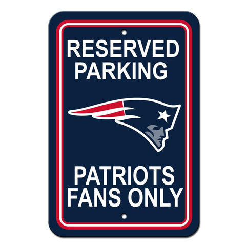 NFL New England Patriots Reserved Parking Sign