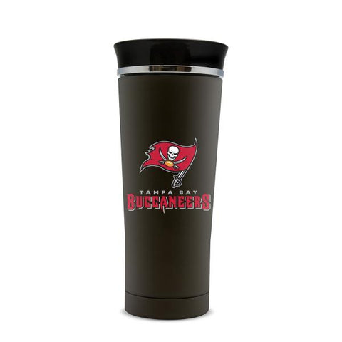 TAMPA BAY BUCCANEERS STAINLESS STEEL LEAK PROOF FREE FLOW THERMO MUG 18 OZ.