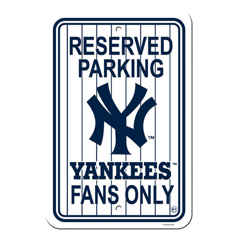 MLB New York Yankees Pin Stripe Reserved Parking Sign