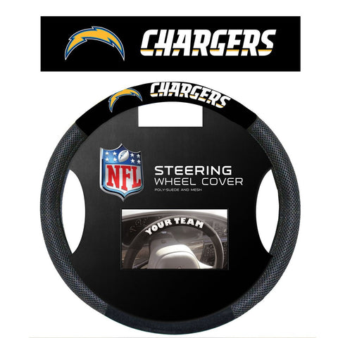 NFL Los Angeles Chargers Poly-Suede Steering Wheel Cover