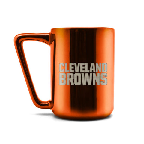 CLEVELAND BROWNS CERAMIC MUG W LASER ENGRAVED LOGO 16 OZ.