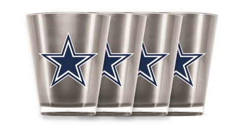 DALLAS COWBOYS INSULATED SHOT GLASS - 4PC/SET