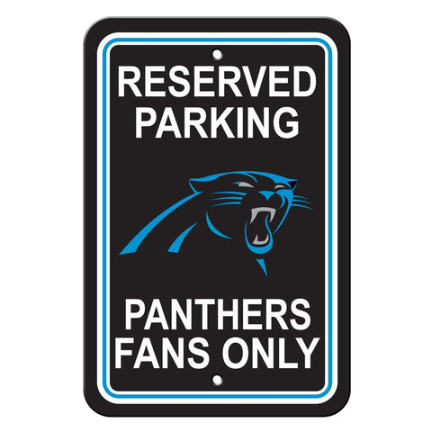NFL Carolina Panthers Reserved Parking Sign