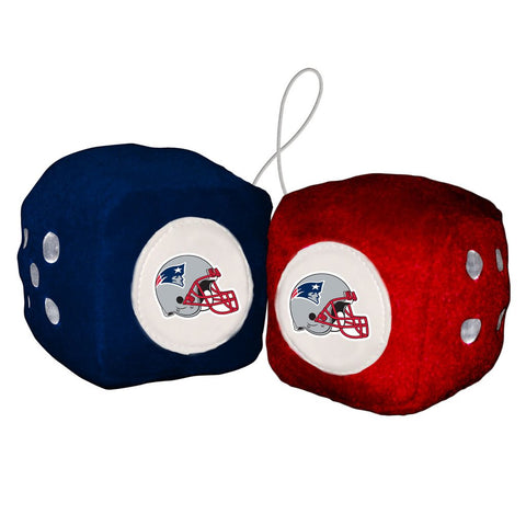 NFL New England Patriots Fuzzy Dice
