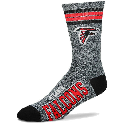 Men's Atlanta Falcons For Bare Feet Gray Got Marble Crew Socks