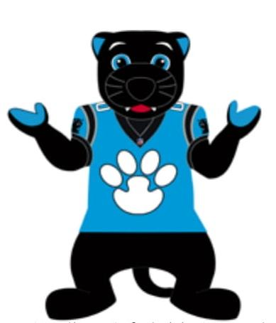 Carolina Panthers 7 Ft Tall Inflatable Mascot