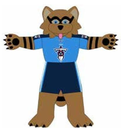 Tennessee Titans 7 Ft Tall Inflatable Mascot