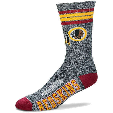 Men's Washington Redskins For Bare Feet Gray Got Marble Crew Socks