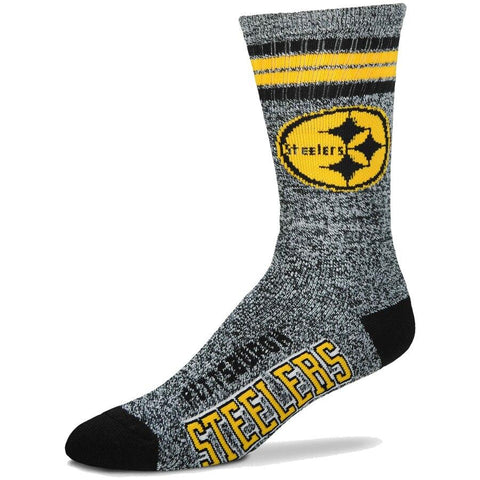 Men's Pittsburgh Steelers For Bare Feet Gray Got Marble Crew Socks