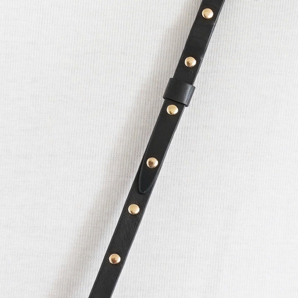 Smooth Gold Toned Studded Strap