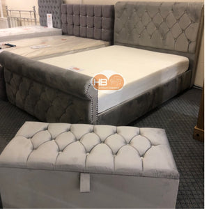 CHESTERFIELD SLEIGH BEDS