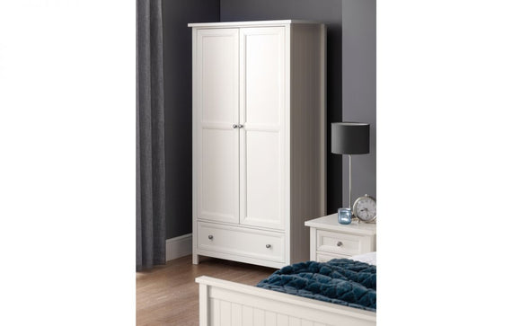 MAINE 2 DOOR WARDROBE - SURF WHITE