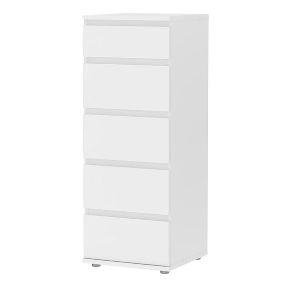 NOVA 5 DRAWER TALLBOY - 4 COLOURS