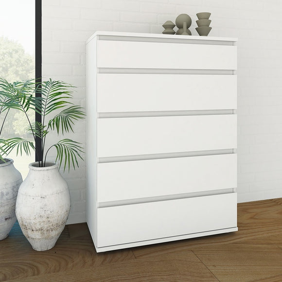NOVA 5 DRAWER CHEST - 4 COLOURS