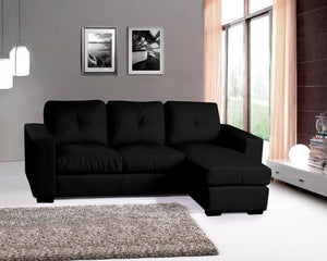 DIEGO CORNER SOFA - (BLACK OR WHITE)