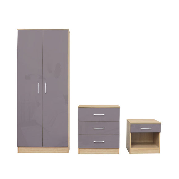 DAKOTA BEDROOM TRIO - TAUPE GREY