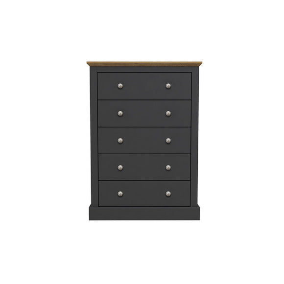 DEVON 5 DRAWER CHEST - 3 COLOURS
