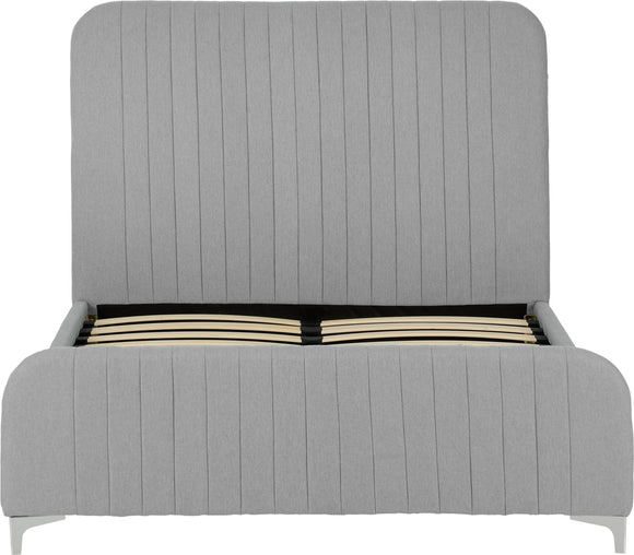 HAMPTON KINGSIZE BEDFRAME - (LIGHT GREY OR TEAL LINEN)
