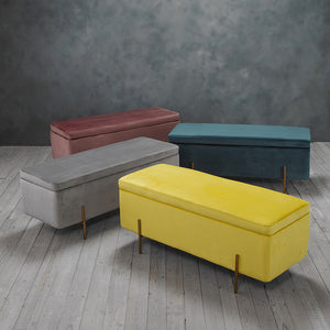 LOLA STORAGE OTTOMAN - (4 COLOURS)