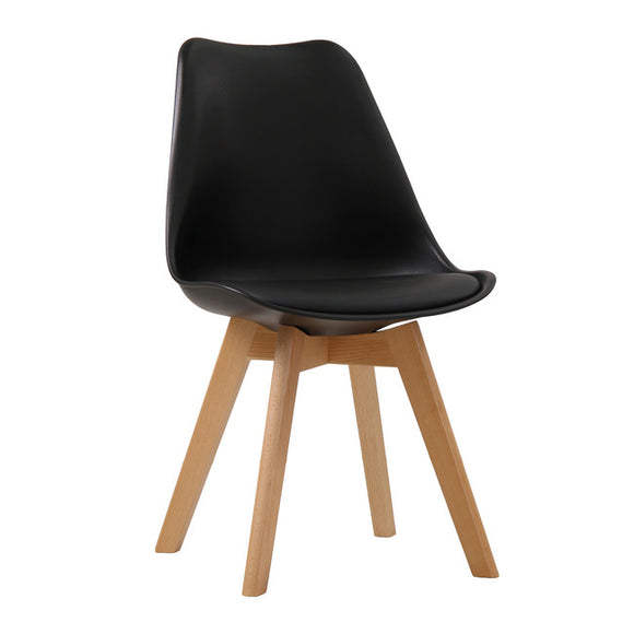 LOUVRE DINING CHAIR - BLACK
