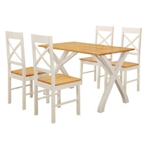 NORMANDY DINING SET - WHITE