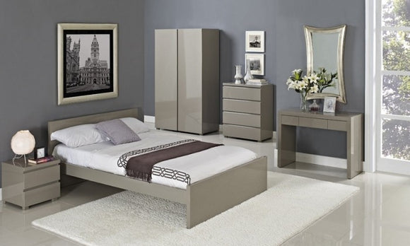 PURO GLOSS DOUBLE BEDS - WHITE, CREAM, CHARCOAL, STONE