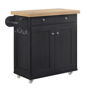 PORTLAND KITCHEN ISLANDS - BLACK, WHITE OR GREY