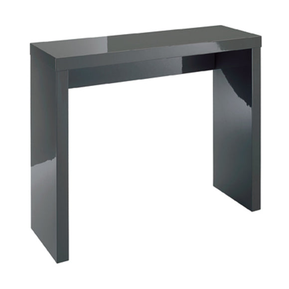 PURO HIGH GLOSS CONSOLE TABLE - WHITE OR CHARCOAL GLOSS