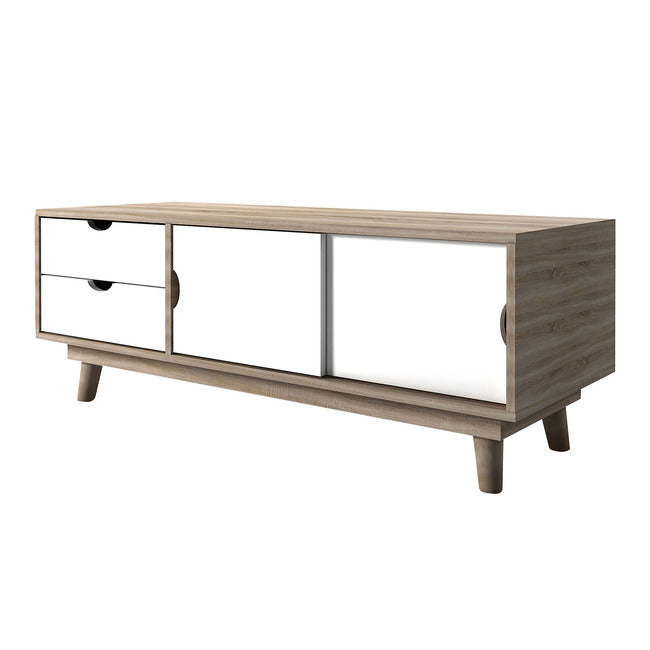 SCANDI TV UNIT - WHITE