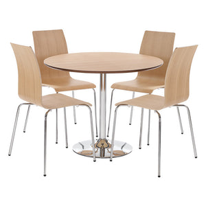 SOHO DINING SET - WHITE, OAK, WALNUT