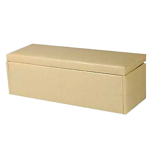 STANTON FAUX LEATHER OTTOMAN BOX - 4 COLOURS
