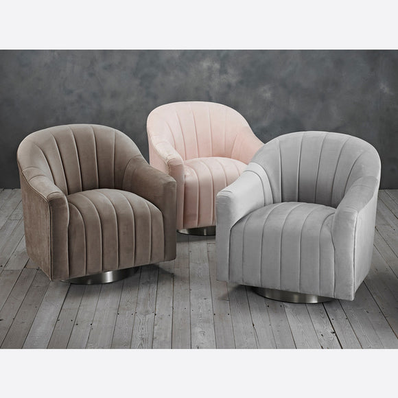 TIFFANY SWIVEL CHAIR (3 COLOURS)