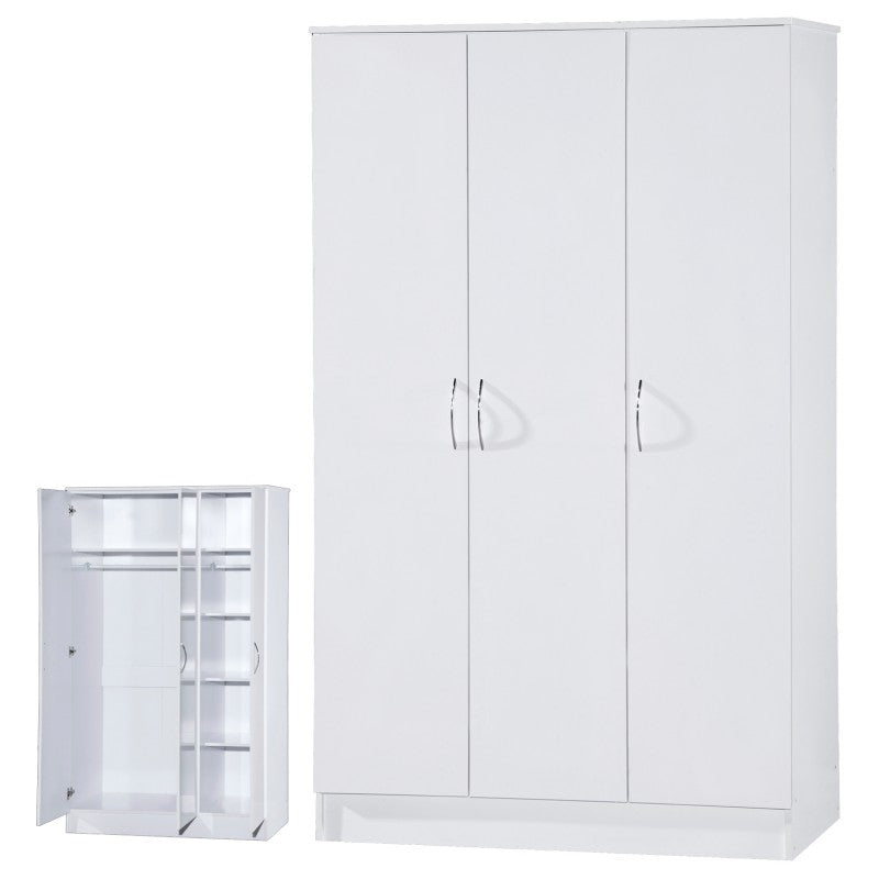 ALPHA 3 DR WHITE GLOSS BEDROOM SET