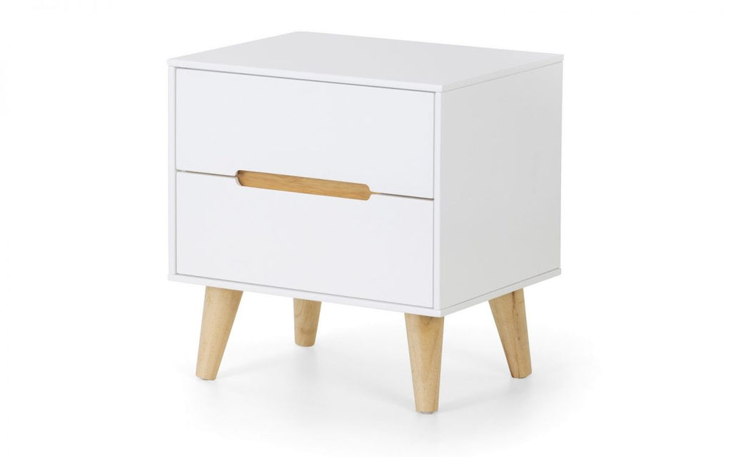 ALICIA 2 DRAWER BEDSIDE TABLE