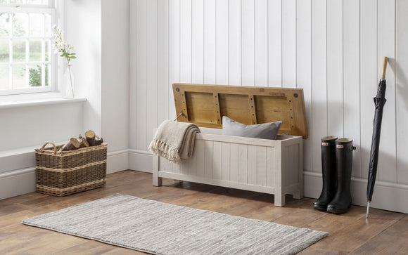 ASPEN STORAGE BENCH - GREY WASH