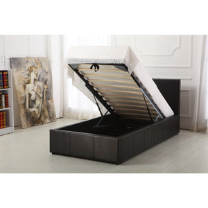 BOSTON SINGLE OTTOMAN BEDFRAME - BLACK