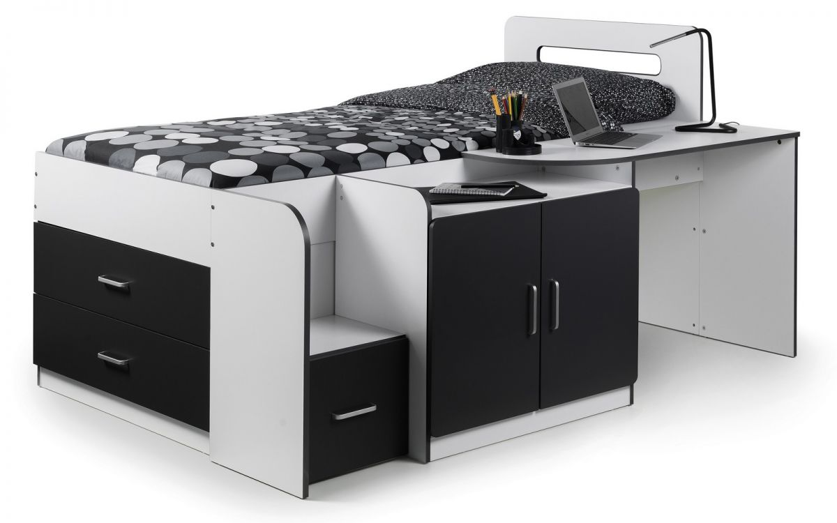 COOKIE CABIN BED - WHITE/CHARCOAL