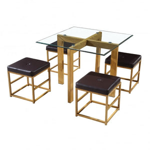 CUBE DINING SETS - BROWN OR WHITE